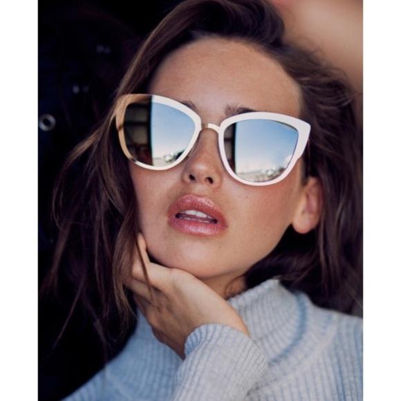 0e5cd5ad551cf Quay - Super Girl Mirrored Gold Sunglasses